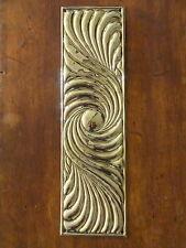 RECLAIMED BRASS ART NOUVEAU FINGER DOOR PUSH PLATES FINGERPLATE KNOBS HANDLES