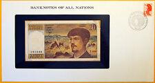 France 1980 - 20 Francs - Uncirculated Banknote enclosed in stamped envelope.