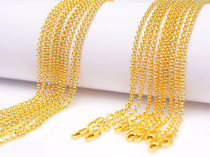 """5PCS 16"""" Jewelry 18K Yellow GOLD Filled Pearl Cross CHAIN NECKLACEs For Pendant"""