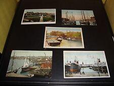 Vintage Saint John N.B. Canada Post Card Quantity 5 Lot VG Condition 1908 Harbor
