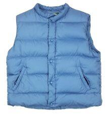 Cabelas Mens Goose Down Blue Snap Puffer Bubble Vest Jacket Large Regular