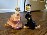 Vintage Ceramic Dutch Boy And Girl