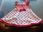 Girls White & Red Spotted Dress. Size 1. New with tags.
