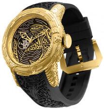 Invicta Men 51mm SHARK S1 Sapphire Gold Automatic NH38 Open Heart SS Watch