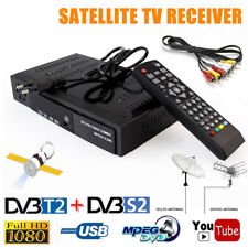 HD Digital Satellite TV Receiver DVB-T2+DVB-S2 FRA 1080P Decoder Tuner MPEG4 FR