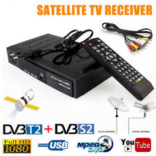 HD Digital Satellite TV Receiver DVB-T2+DVB-S2 FTA 1080P Decoder Tuner MPEG4 FT