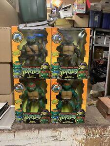 """NIB Teenage Mutant Ninja Turtles TMNT 12"""" Giant Figures Playmates Complete Set"""