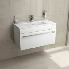 Wall Hung Mounted Vanity Unit Bathroom Toilet Cabinet Basin Sink White 700mm New