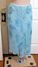 Ladies Target flared long skirt size 16 Light green floral 32 inch waist
