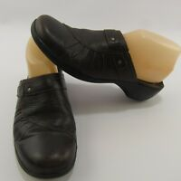 Born Women's Size 9 Dark Brown Leather Shoes 9M Slides Slip-On Flats