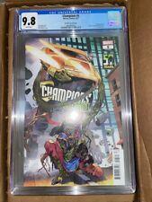 Champions (Volume 2) #5 CGC 9.8 Man-Thing 50th anniversary variant Ms. Marvel