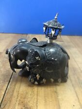 Elephant Mini Ebony With Silver Adornment Kandy Esala Perahera Festival