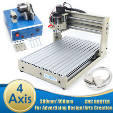 4 Axis 3040 Cnc Router Desktop Engraver Pcb Engraving Cutting Mill Machine 400w