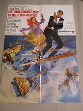 JAMES BOND 007 - IM GEHEIMDIENST IHRER MAJESTÄT Filmplakat Poster GEORGE LAZENBY