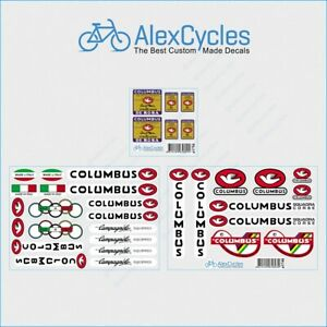 Bicycle Columbus Extra EL leggeri DE ROSA Custom Frame & Fork Decals Sticker Kit