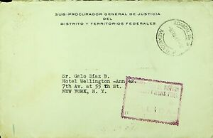 MEXICO POST WWII DEPUTY G. & JUSTICE DISTRICT & FEDERAL. TERR. COVER TO USA W/CA