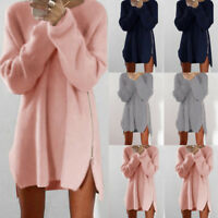 Oversized Women Long Sleeve Knit Cardigan Jumper-Tops Loose Casual Sweater Dr JF
