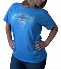 Womens Biker Blue T-Shirt  Size XXL ~Live Love Ride~