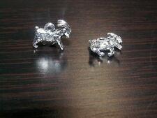 10 Silber Tierkreiszeichen Anhänger Amulett Beads Ziege Schaf Bock Zodiac 38.5