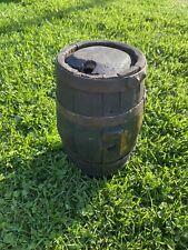 More details for vintage powder keg gunpowder ship keg wooden keg