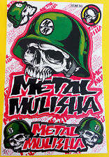 Grand Autocollant sticker MX Metal Mulisha Noir Rouge Or - 265 x 170 mm #m30