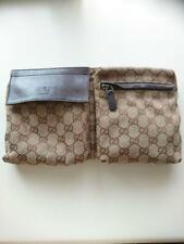Cinturón Gucci Gg Cintura Bolsa Riñonera Riñonera Fanny Pack Beige Marrón De Colección Usado