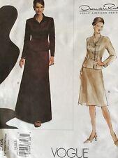 2003 UC Oscar de la Renta Jacket Skirt Couture Designer Pattern 18-22~Vogue 2764