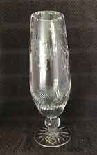 Bohemia Crystal Ball-Stemmed Beer Glass w/a floral & geometric design- Excellent