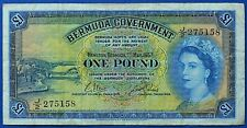 More details for bermuda government 1957 one pound banknotes (with thread).              ch13-137