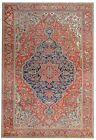 Terrific Tribal - 1900s Antique Oriental Rug - Nomadic Carpet - 13 x 19 ft.