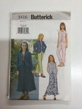 Butterick 3416 Girls Jacket, Waistcoat, Skirt & Trousers Brand New