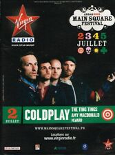 B- Publicité Advertising 2009 Concert Coldplay Main Square Festival Virgin radio