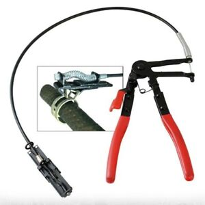Flexible Long Reach Locking Hose Clamp Removal Pliers Ratchet Tool Clip For Fuel