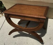 FINE DREXEL HERITAGE MODERN WALNUT BENCH / OTTOMAN / TABLE HOLLYWOOD REGENCY