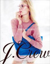 J. CREW Catalog February 2015 INGUNA BUTANE Nadja Bender ANNA SELEZNEVA