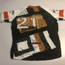 Mens L PRIMAL Cycling S/S Shirt Bike to Jack Daniels Back 21st Birthday 2015