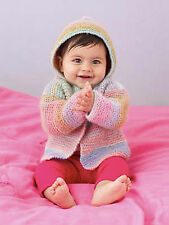 Knitting Pattern -Baby/Toddlers/Infant Hoodie Style Cardigan  (9 sizes) PO089