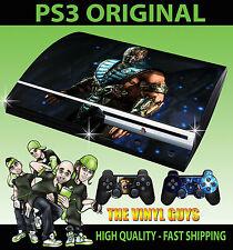 PLAYSTATION PS3 ORIGINAL SUB ZERO MORTAL KOMBAT X ICE NINJA SKIN & 2 PAD SKINS