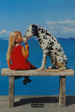 ICE CREAM LICK - CUTE DALMATIAN & KID POSTER 24x36 - 27965