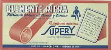 Papel secante.Publicidad de Clemente Riera,fábrica de correas al cromo y zanino.