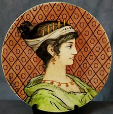 SUPERB LARGE SIGNED CHOISY-LE-ROI FAIENCE HAND PAINTED CHARGER