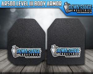 Body Armor AR500 Level 3 Set Of Plates Curved 10x12 Swim/Sapi