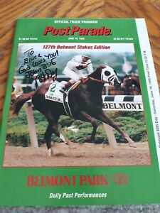 1995 Belmont  Stakes edition Autographed by Pat Day on cover