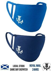 Scotland Thistle Face Mask Washable Cover Breathable Double Layer Protect Cotton