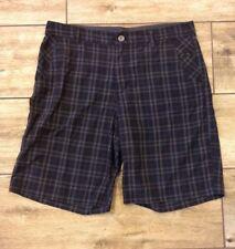 Lululemon Mens Size 36 Kahuna Shorts Core Surge Commission Abc Gray Black Plaid
