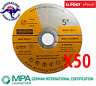 50 x 125mm x 1mm Cutting Disc Wheel Thin Angle Grinder Cut Off Metal Steel Flap