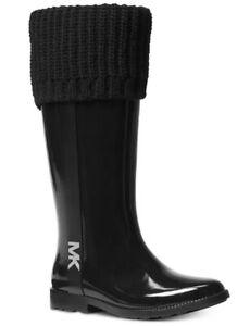 New w/o box Michael Kors Iconic MANDY MK Logo Tall Fully Lined RAIN BOOTS US 7