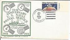 Estados Unidos 1978 USS Damato DD-871 US Naval Azul Marino Cubierta de servicio postal 15 C.