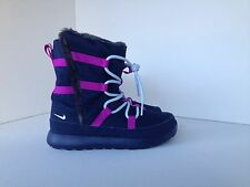 Nike Roshe One Hi (PSV) Uk 12.5 Midnight Navy Blue Tint Hyper Violet 807759407