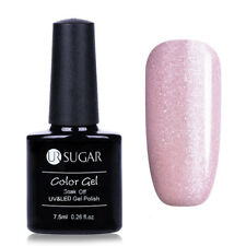 7.5ml UR SUGAR Nail Art Soak Off UV Gel Polish Pink Glitter Varnish Manicure DIY